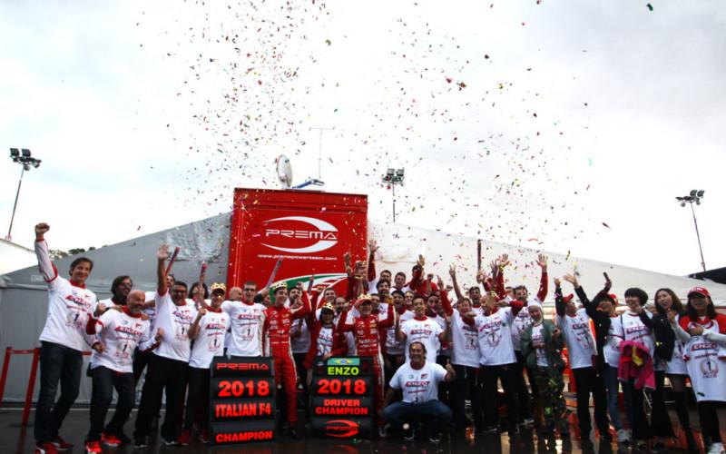 Enzo Fittipaldi and PREMA Theodore Racing win the 2018 Italian Formula 4 Championship